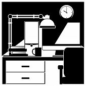 stock photo of workstation  - vector illustration - JPG