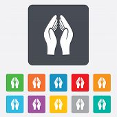 foto of priest  - Pray hands sign icon - JPG
