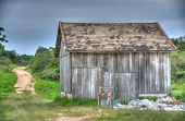 pic of shacks  - Wood shack in the middle of a farm field in the Brazilian countryside