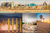 picture of gaudi barcelona  - Beautiful Collage of famous city Barcelona - JPG