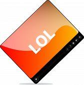 stock photo of lol  - Social media concept - JPG