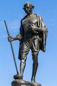 stock photo of mahatma gandhi  - Mahatma Gahdhi statue in Udaipur - JPG