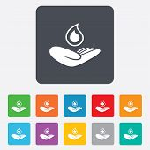 pic of save water  - Save water sign icon - JPG