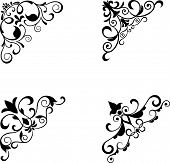 picture of brocade  - Flower patterns and borders for design and ornate - JPG