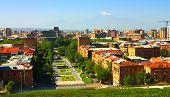 pic of armenia  - Yerevan city views from the mountain top - JPG