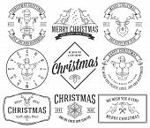 stock photo of rudolph  - Vector christmas badges and labels for any use - JPG