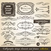 pic of ribbon decoration  - Vector Calligraphic element Border Corner Frame and Invitation Collection - JPG