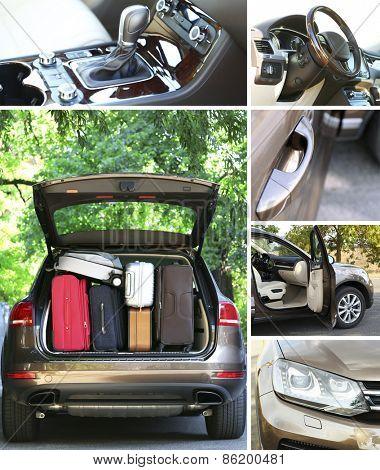 Modern car collage