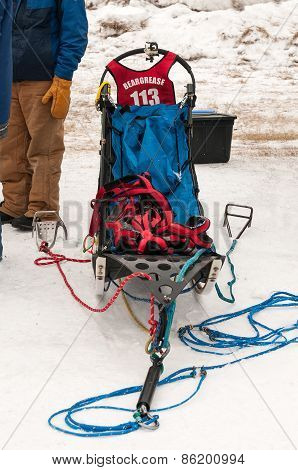 Beargrease 2015 Mid Distance Alex Laplante's Sled At Start
