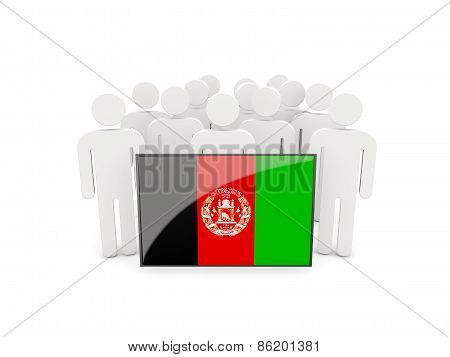 People With Flag Of Afghanistan