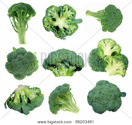 Different Views Of Broccolis