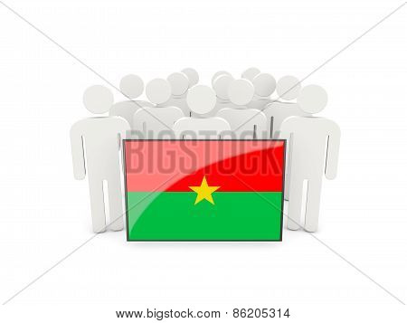 People With Flag Of Burkina Faso