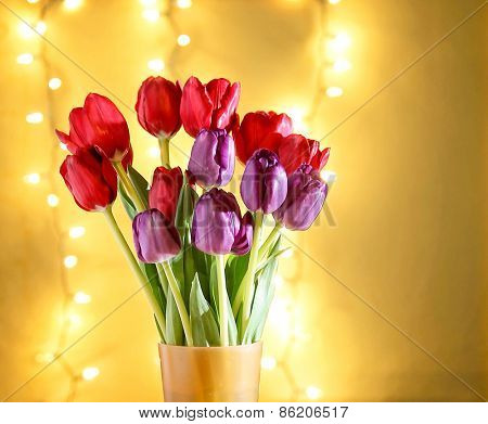 tulips in front of bokeh. good for mother's day, easter, valenti