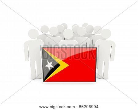 People With Flag Of East Timor