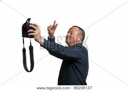 Selfie With Big Camera