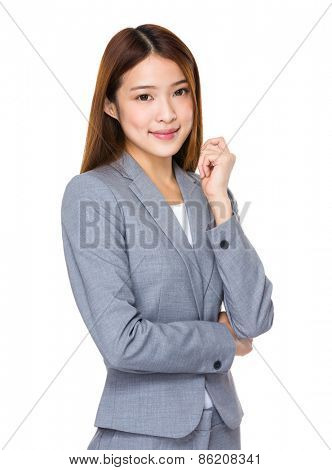 Pretty asian wearing business