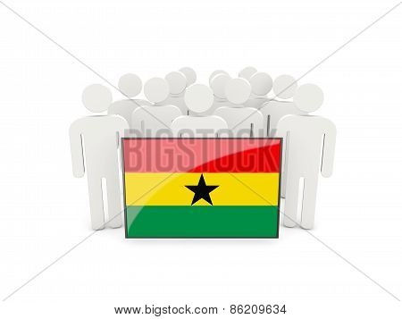 People With Flag Of Ghana