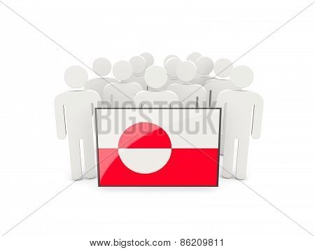 People With Flag Of Greenland