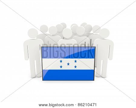 People With Flag Of Honduras