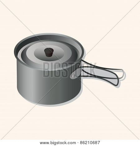 Camping Pot Theme Elements