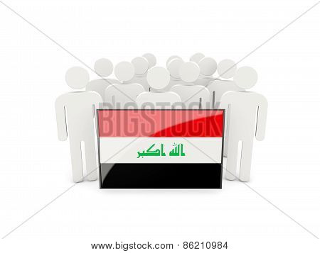 People With Flag Of Iraq