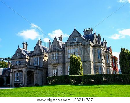 Irish Stone Mansion of the Victorian Era: County Kerry, Ireland - Circa October 2008