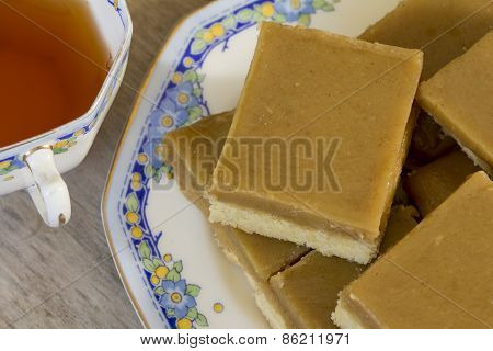 Ginger Slice with Tea