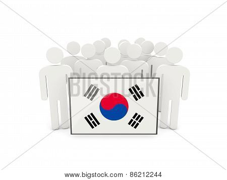 People With Flag Of South Korea