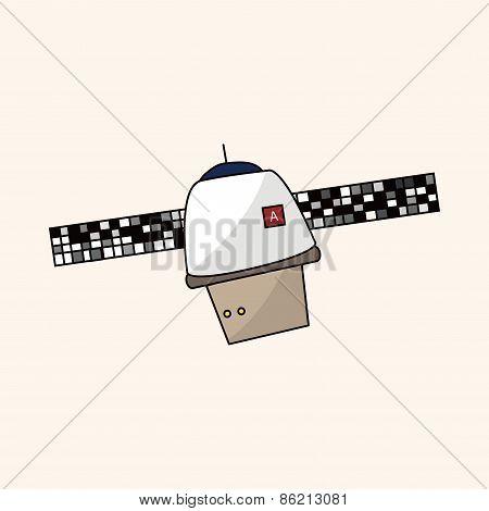 Space Satellite Theme Elements