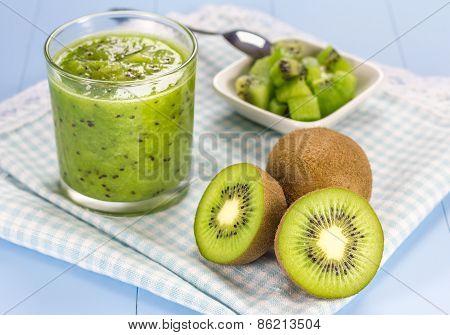 Kiwi Smoothie In The Glass