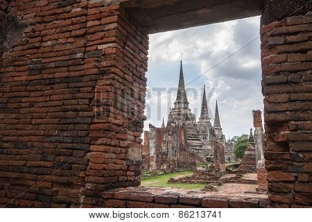 Wat Phra Srisanphet In Ayutthaya, Thailand.