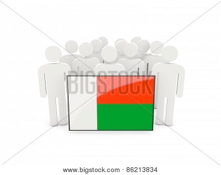 People With Flag Of Madagascar