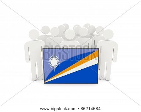 People With Flag Of Marshall Islands