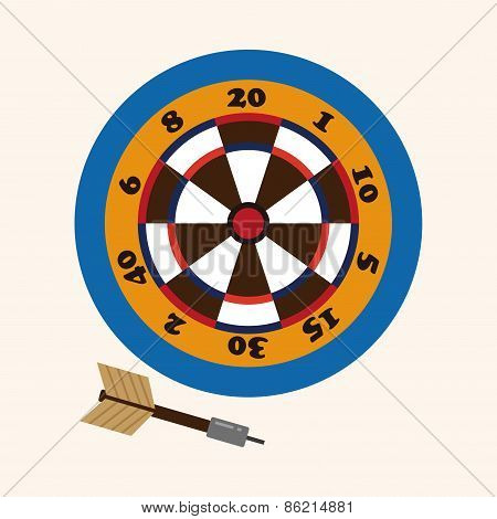 Casino Darts Theme Elements