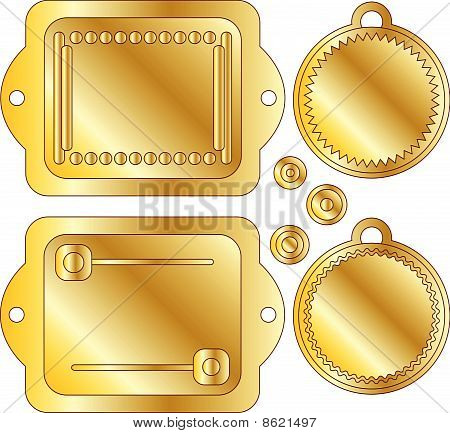 Golden vector tags or labels
