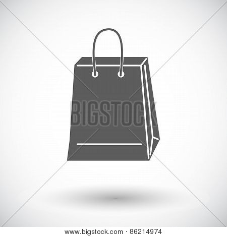 Bag store single icon.