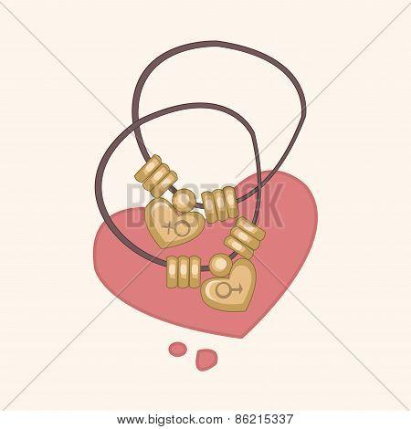 Couple Necklace Theme Elements