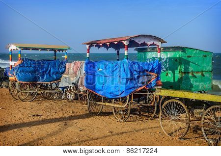 Cart on beach