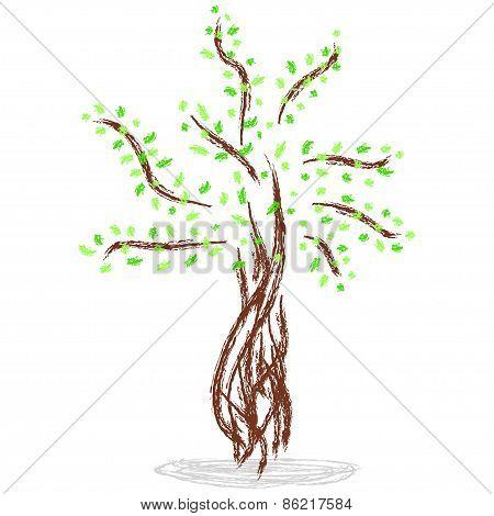 Isolated Illustration Of Tree