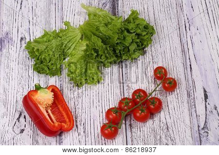 Tomatoes, Salad And The Bulgarian Pepper