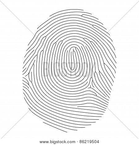 Vector Fingerprint, Thin Line Style