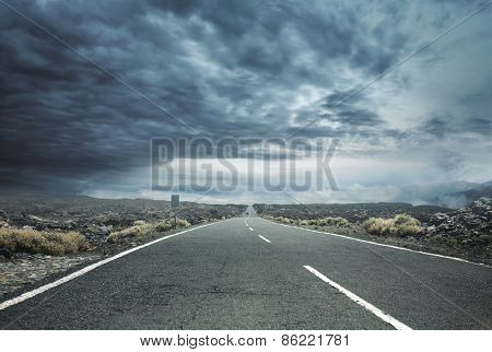 Straight rural road