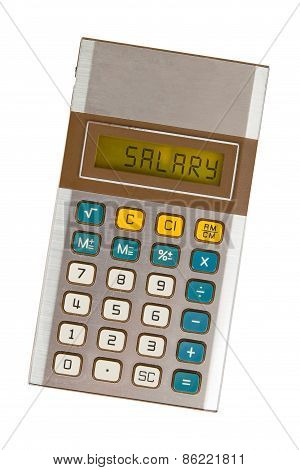 Old Calculator - Salary
