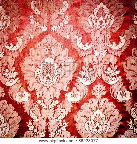 Red Damask Tapestry