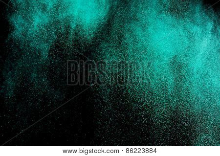 Abstract aquamarine  paint  Holi.