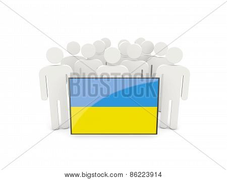 People With Flag Of Ukraine