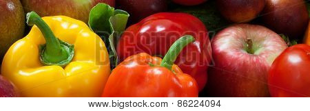 Color Vegetables And Fruits
