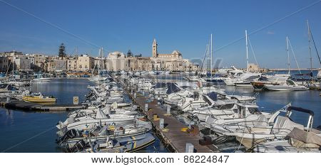 Yachts And Motorboats In The Port Of Trani