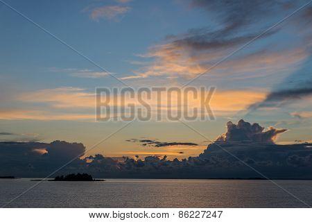Beautiful Sea Landscape After Sunset