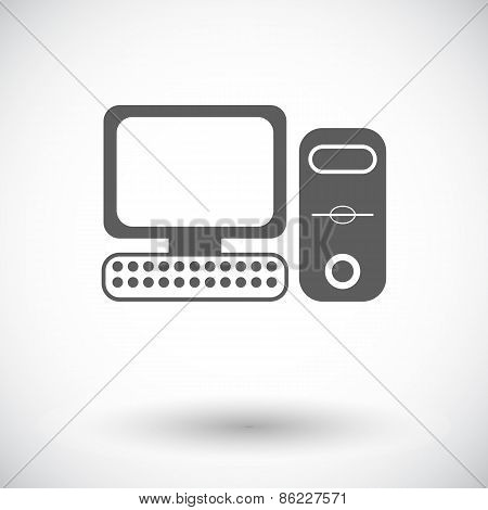 Computer flat icon 2